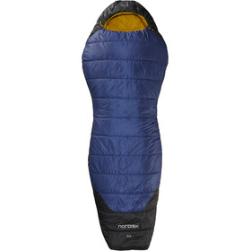Nordisk Puk -2° Curve Sleeping Bag L, true navy/mustard yellow/black